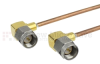 RA SMA Male to RA SMA Male Cable RG-405 Coax in 24 Inch -- FMC0404988-24 -Image