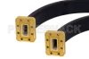 WR-90 Seamless Flexible Waveguide 24 Inch, CPR-90G Flange Operating from 8.2 GHz to 12.4 GHz -- PE-W90SF006-24