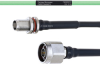 Temperature Conditioned Low Loss TNC Female Bulkhead to N Male Cable LL160 Coax in 30 Inch -- FMHR0212-30 -Image