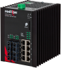 NT24k®-12FX4-POE Managed PoE+ Gigabit Ethernet Switch, SC 2km PTP Enabled -- NT24k-12FX4-SC-POE-PT -Image