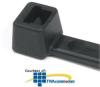 "HellermannTyton Black Cable Tie 15.35"" Length (Pkg of.. -- T50L0C2"
