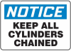 Notice: Keep All Cylinders Chained Signs -- GO-60710-09