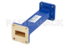 WR-112 Commercial Grade Straight Waveguide Section 6 Inch Length with UG-51/U Flange Operating from 7.05 GHz to 10 GHz -- PE-W112S001-6 -Image