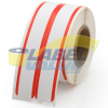 Dymo Compatible LV-30276 File Labels w/Red Stripe - 2-up -- LV-30276