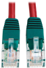Cat5e 350MHz Molded Cross-over Patch Cable (RJ45 M/M) - Red, 10-ft. -- N010-010-RD