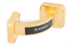 WR-28 Instrumentation Grade Waveguide E-Bend with UG-599/U Flange Operating from 26.5 GHz to 40 GHz -- PE-W28B001 - Image