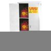 Flammable Liquid Manual Close Safety Storage Cabinet -- CAB119-WHITE