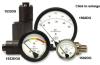 Heavy-Duty Diaphragm Sensor Differential Pressure Gauge -- 1533DGT