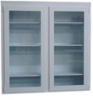 2 Glass Sliding Door Wall Cabinet 48x24 -- ID-2GSL-4824-WC