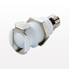 PLC Series Coupling Body, Shutoff Acetal Panel Mount Ferruleless Polytube Fitting -- PLCD12004