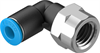 QSLF-1/4-6-B Push-in L-fitting -- 153275 -Image