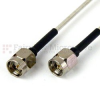 SMA Male to SMA Male Cable RG405 Type .086 Coax in 9 Inch and RoHS -- SCA49086-09 -Image