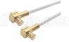 RG188 Coaxial Cable, MCX 90 Plug / 90 Plug, 2.0 ft -- CCSM188A-2