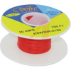 Wire; 100ft 30AWG silver plated copper;red Kynar insulated; low strip force -- 70176458