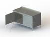 "TSSOHD Series, Stainless Steel Cabinet with 2 3/4"" Backsplash NSF Listed -- 4TSSOHD-24120 - Image"