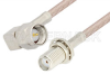 SMA Male Right Angle to SMA Female Bulkhead Cable 60 Inch Length Using RG316 Coax, RoHS -- PE3836LF-60 -Image