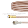 Snap-On MMBX Plug to SMA Male Cable RG316-DS Coax in 4 Inch -- FMCA1453-4 -- View Larger Image