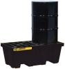 2 Drum EcoPolyBlend™ Spill Containment Pallet - Black -- PAL28623