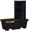 2 Drum EcoPolyBlend™ Spill Containment Pallet - Black -- PAL28623