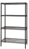 Quantum Black Wire Shelving Units -- 55044