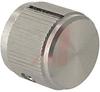 Knob;Dia 0.75in;Shaft Sz 0.25in;Panel;Side Saw Cut;Clear Gloss;Aluminum;6-32 -- 70126046