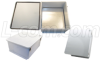 18x16x8 Inch Weatherproof NEMA 4X Enclosure with Blank Aluminum Mounting Plate -- NB181608-KIT