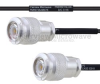 TNC Male to TNC Male MIL-DTL-17 Cable M17/119-RG174 Coax in 12 Inch -- FMHR0114-12 -Image
