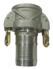 Female Coupler,Hose Barb,4 In,Aluminum -- 4YGC8