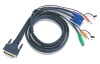 Aten 10-Foot MasterView Pro 1000 Series PS/2 KVM Cable -- 2L1703P