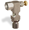 "(Formerly B1630-11X00), Inverted Angle Small Sight Feed Valve, 1/4"" Female NPT Inlet, 1/4"" OD Tube Outlet, Handwheel -- B1628-335B1HW -Image"