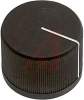 Knob; ABS; Round with Indication Line; Black; 1/4 in.; 0.975 in.; 0.750 in. -- 70206945