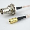 SMB Plug to BNC Female Bulkhead Cable RG-316 Coax in 24 Inch -- FMC1638315-24 -Image