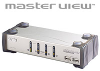 4 Port KVMP / 2 Port USB Hub including 4 Cables -- CS-1734C - Image