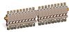 "Multiple Sight Feed Valve, 18 Valves, 1/8"" Female NPT Inlet, (18) 1/4"" OD Tube Outlets -- B3150-18 -Image"
