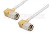 SMA Male Right Angle to SMA Male Right Angle Cable 12 Inch Length Using PE-SR405FL Coax, RoHS -- PE3646LF-12 -Image