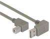 Right Angle USB Cable, Down Angle A Male/ Down Angle B Male, 4.0m -- CA90DA-90DB-4M -Image