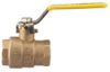 2-Piece, Full Port, Brass Ball Valve with Stainless Steel Ball & Stem -- FBV-3C-SS, FBVS-3C-SS - Image