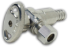 1/2 in. CF x 3/8 in. OD Comp. Angle 1/4-Turn Chrome Stop -- WPAS-2PB - Image