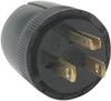 Medium-Duty Dead Front Plug, Black -- 5276BK -- View Larger Image