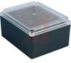 Enclosure;NEMA4;Polycarbonate;Flame Retard;Black/Clear Cover;9.84Lx7.87Wx5.12Hin -- 70020517