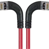 Category 6 Shielded LSZH Right Angle Patch Cable, Right Angle Left/Right Angle Right, Red, 5.0 ft -- TRD695SZRA8RD-5 -Image
