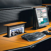 Computer workstation desk from Eaton