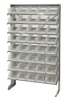 Bins & Systems - Clear-View Bins - Economy Shelf Bins - Sloped Shelving - Single Sided Pick Racks - QPRS-102CL - Image