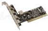 Zonet 4 Port USB 2.0 PCI Card -- ZN-ZUH2215V