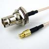 MCX Plug to BNC Female Bulkhead Cable RG316 Coax in 60 Inch -- FMC0738316-60 -Image