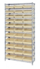 Bins & Systems - 4'' Shelf Bins (QSB Series) - Wire Shelving Units - WR12-109 - Image