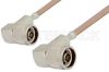 N Male Right Angle to N Male Right Angle Cable 72 Inch Length Using RG400 Coax -- PE3412-72 -Image