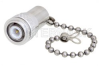 2 Watt RF Load with Chain Up to 6 GHz with TNC Male Tri-Metal Plated Brass -- PE6TR014 -Image