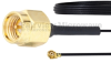 SMA Male to UMCX 2.1 Plug Cable 0.81mm Coax in 6 Inch and RoHS Compliant -- FMCA1028-6 -Image
