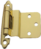 3/8 Inch Inset Hinge, Solid Brass, Polished Brass -- 408305